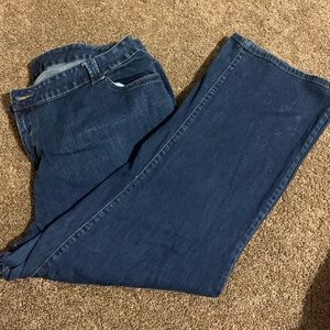 Denim lane Bryant boot cut with some distressing